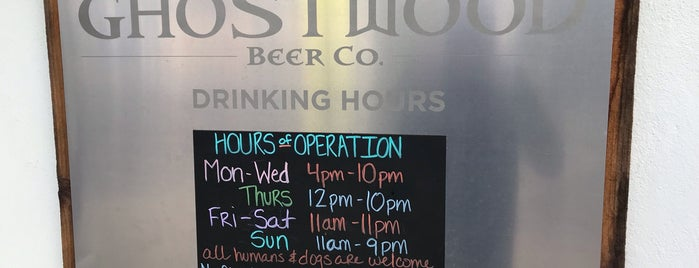 Ghostwood Beer Company is one of Peninsula Places.