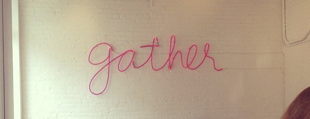 Gather is one of NYC Restaurants and cafes to try.