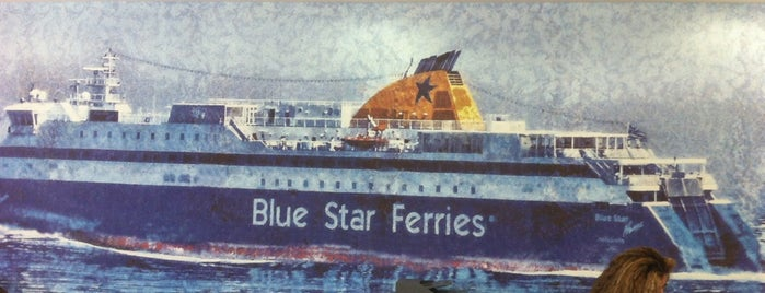 Blue Star Ferries Piraeus Central Office - Gelasakis Shipping Travel Center is one of Tempat yang Disukai David.