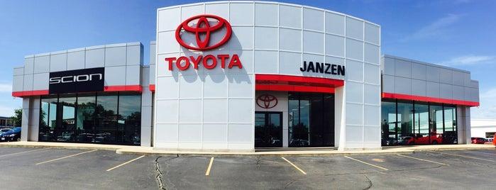 Janzen Toyota is one of Increase your Stillwater City iQ.