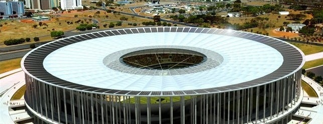 Estádio Nacional de Brasília Mané Garrincha is one of The Seven Ten Split Bagde.