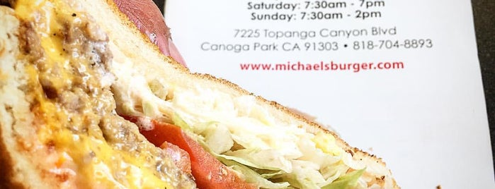 Michael's Burgers is one of California - In & Around L.A. & Hollywood.