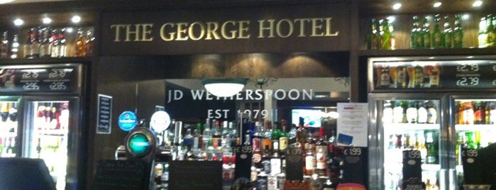 The George Hotel (Wetherspoon) is one of Tempat yang Disukai Carl.