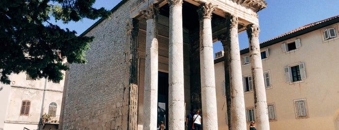 Augustus Templum is one of Kroatien.