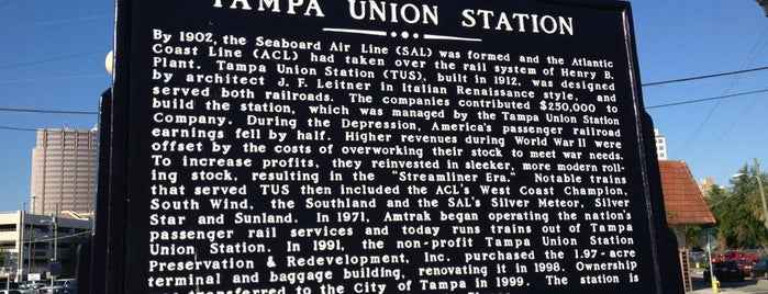 Tampa Union Station is one of Attractions.