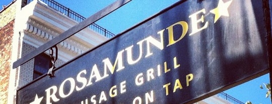 Rosamunde Sausage Grill is one of Lugares guardados de David.