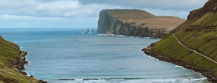 Tjørnuvík is one of Faroe Island.