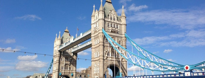 Tower Bridge is one of London, UK (attractions).