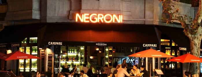 Negroni is one of Bares.