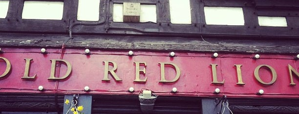 Old Red Lion is one of Еда лондон.