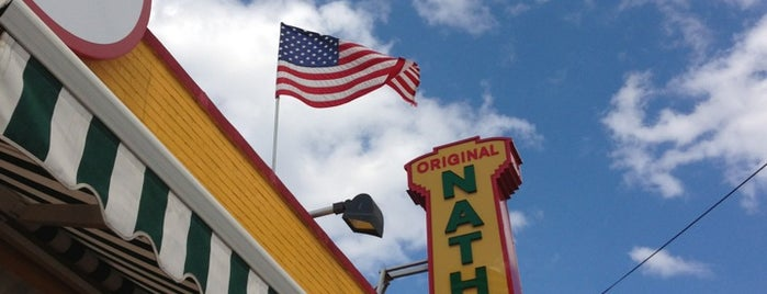 Nathan's Famous is one of Orte, die Mark gefallen.