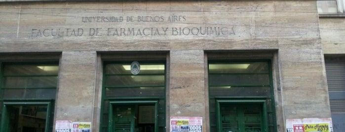 Facultad de Farmacia y Bioquímica (UBA) is one of lugares.