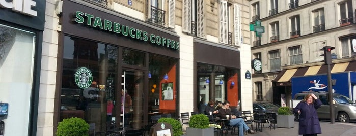 Starbucks Coffee is one of Paris: husband's hometown ♥.
