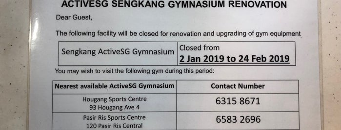 Sengkang ActiveSG Gym is one of Sengkang D.