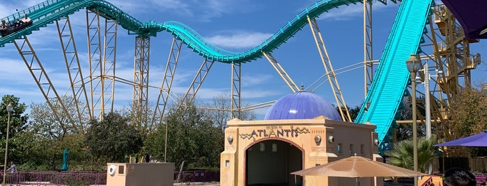 Journey to Atlantis is one of SeaWorld San Antonio.