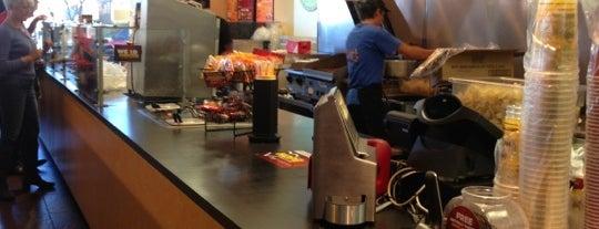 Moe's Southwest Grill is one of Tempat yang Disukai Paige.