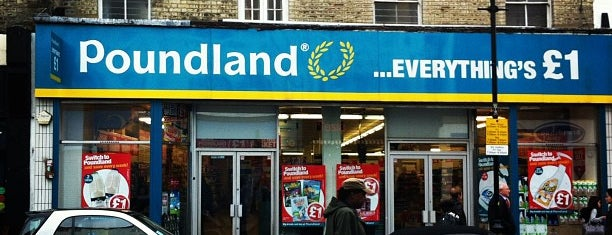 Poundland is one of London Trip.