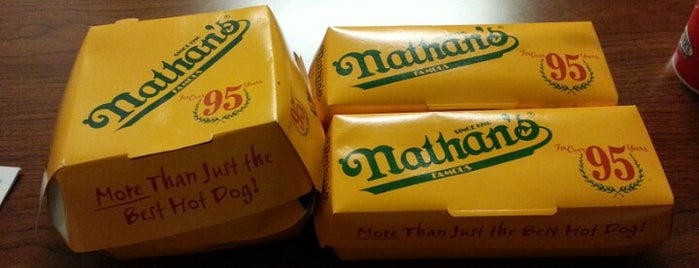 Nathan's Famous is one of LevelUp Merchants.