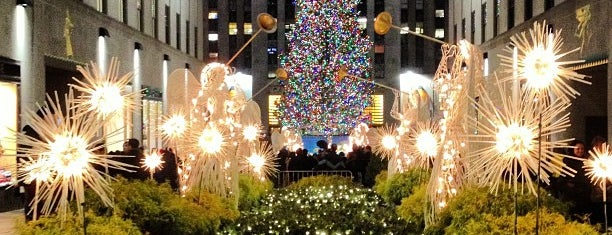 Rockefeller Center Christmas Tree is one of Tempat yang Disukai Danyel.