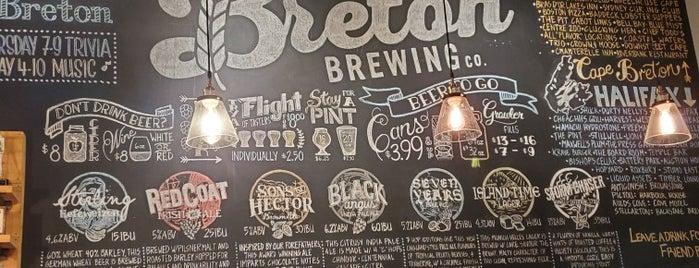 Breton Brewing Co is one of Bob Pelley's Cape Breton.