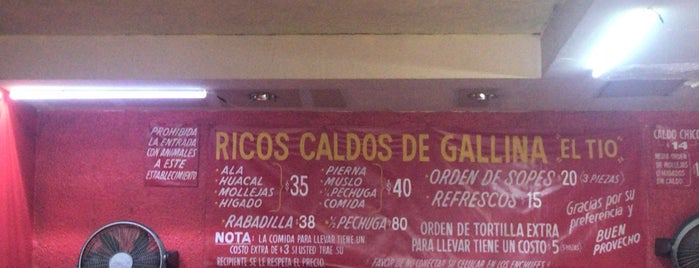 "Caldos de Gallina "" El Tio "" is one of Tamara 님이 저장한 장소."