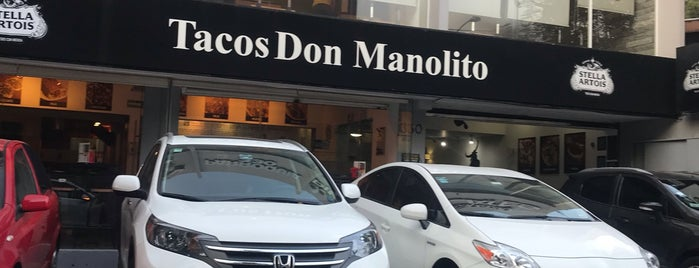 Tacos Don Manolito is one of Leticia 님이 좋아한 장소.