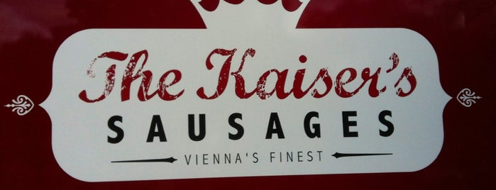The Kaiser's Sausages Van is one of Gourmet Grocers, Bon Boutiques, Artisan Emporiums:.