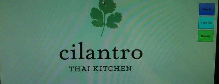 Cilantro Thai Kitchen is one of Tempat yang Disukai Susan.