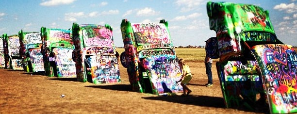 Cadillac Ranch is one of COVID Road Trip.