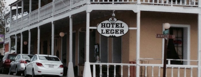 The Hotel Leger is one of Pacific Old-timey Bars, Cafes, & Restaurants.