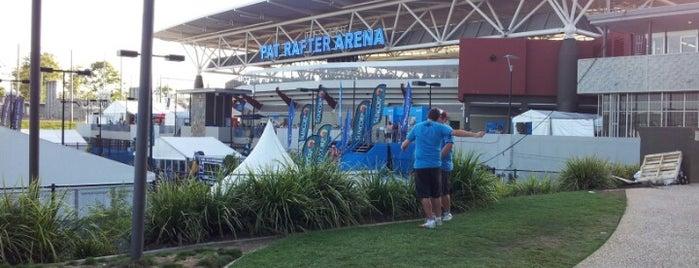 Queensland Tennis Centre is one of Orte, die FoodMeUpScotty gefallen.