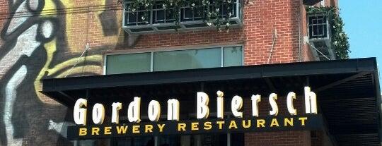 Gordon Biersch is one of Happy Hours.
