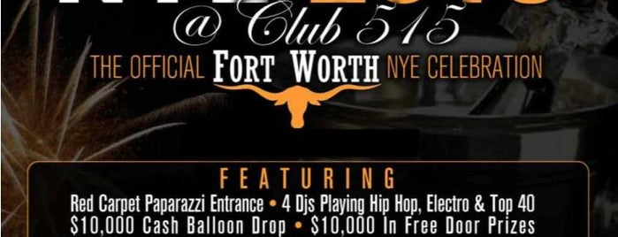 The Clubs is one of Dallas New Years Eve 2013 - Dallas NYE Parties.