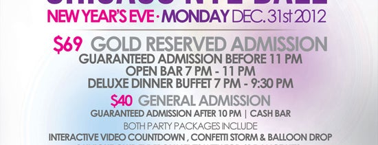 Castle Chicago is one of Chicago New Years Eve 2013 - Chicago NYE Parties.