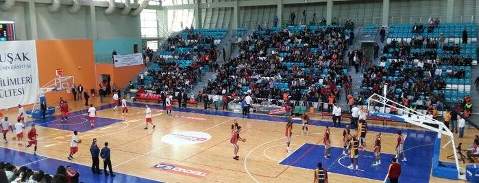Uşak Üniversitesi Kapalı Spor Salonu is one of NTV Spor badge.