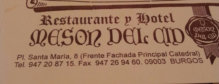 Meson del Cid is one of HL Restaurantes Try SP.