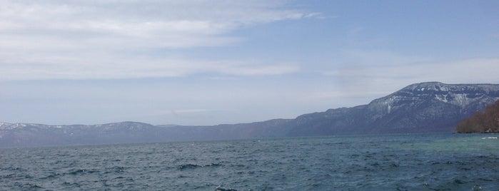 Lake Towada is one of Aomori/青森.