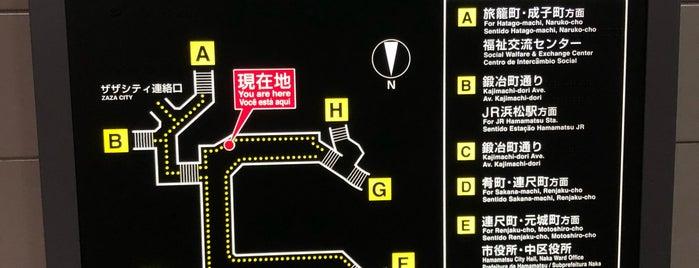 伝馬町交差点 is one of 遠鉄バス 16-4|小沢渡線.