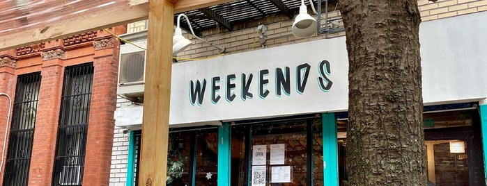 Weekends is one of Brooklyn Food & Drink.