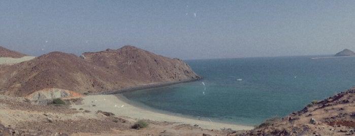 Heart Beach is one of UAE road trip.