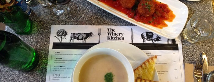 The Winery Kitchen is one of Syd - Melb.