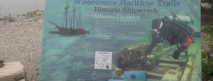 Fleetwing Shipwreck Overlook is one of Green Bay.
