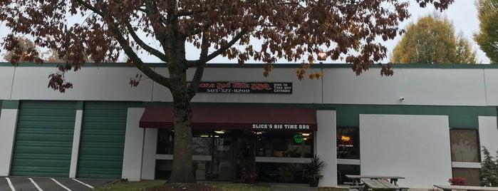 Slick's Big Time BBQ is one of Beaverton/Portland Food Trucks.