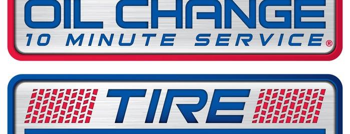 Express Oil Change & Tire Engineers is one of Posti che sono piaciuti a Travis.