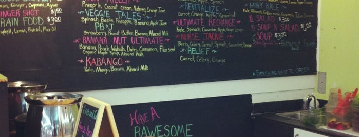 Rawesome Juicery is one of Atlanta vegan.
