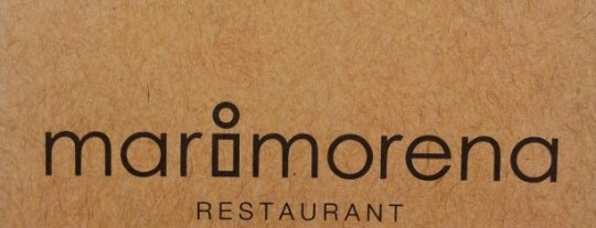 Marimorena is one of Cosy restaurants.