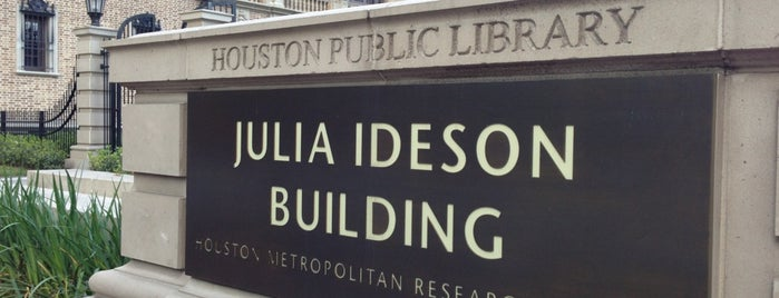 Julia Ideson Building (Houston Public Library) is one of H-Town.