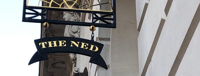 The Ned Hotel is one of Want to Try Out New.