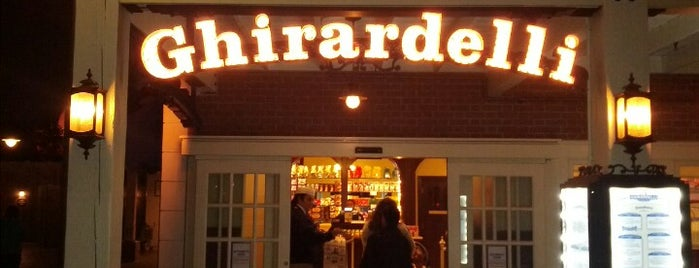 Ghirardelli Soda Fountain & Chocolate Shop is one of Disneyland MUST Eats!.