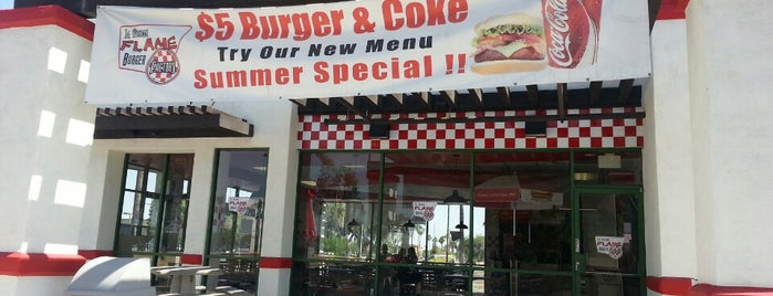 Flame Burger is one of Food & Drink.